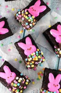 peeps-in-a-blanket brownies
