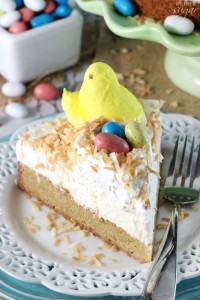Easter Coconut Blondie Cheesecake